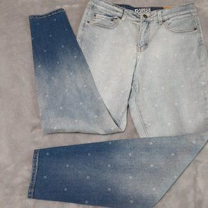 Sears Ombre Polka Dot Midrise Skinniest Jegging 10